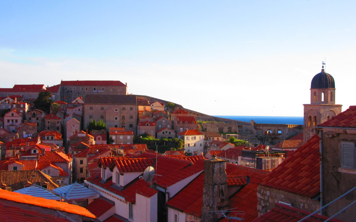 Dubrovnic bathed in evening light