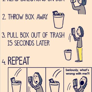 .... anyone else? I feel stupid pulling the directions out of the trash to reread.  Where are our minds when we read the first time? Absent though present...