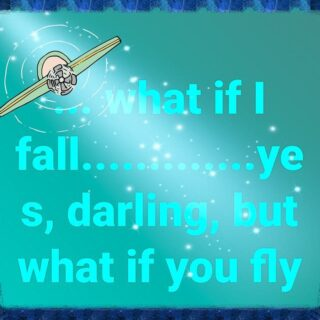 What if you fly? Think you can fly? I'm sure if you try you could hop, bounce, leap and maybe even fly..... If you try 😘🕊️  Just take that step.  Be brave, be bold, be beautiful in your courage.  What do you want to try? Learn digital marketing 📱, starting a blog 🤔, surfing 🏄‍♀️ baking 🎂, drawing 🧸, painting 🎨 , mosaic 🎭.... join belly dancing 💃, maybe try yoga 🧘‍♂️,  learning to make handbags 👜👛, how about perfecting Barista ☕ talents....   I know Covid 😳restrictions have made many of us timid and fearful but ' try' is in us all.  We've got this folks. Let's do it.  #skills #hobbies #learn #courage #anelephantinmysuitcase #thegreenhousecafe #